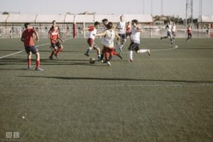 Match amical - camp de foot en Espagne