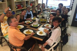 Eating paella - AP Spanish workshop for teachers in Spain