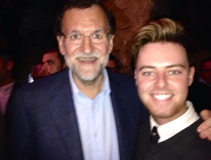 Meeting the president of Spain