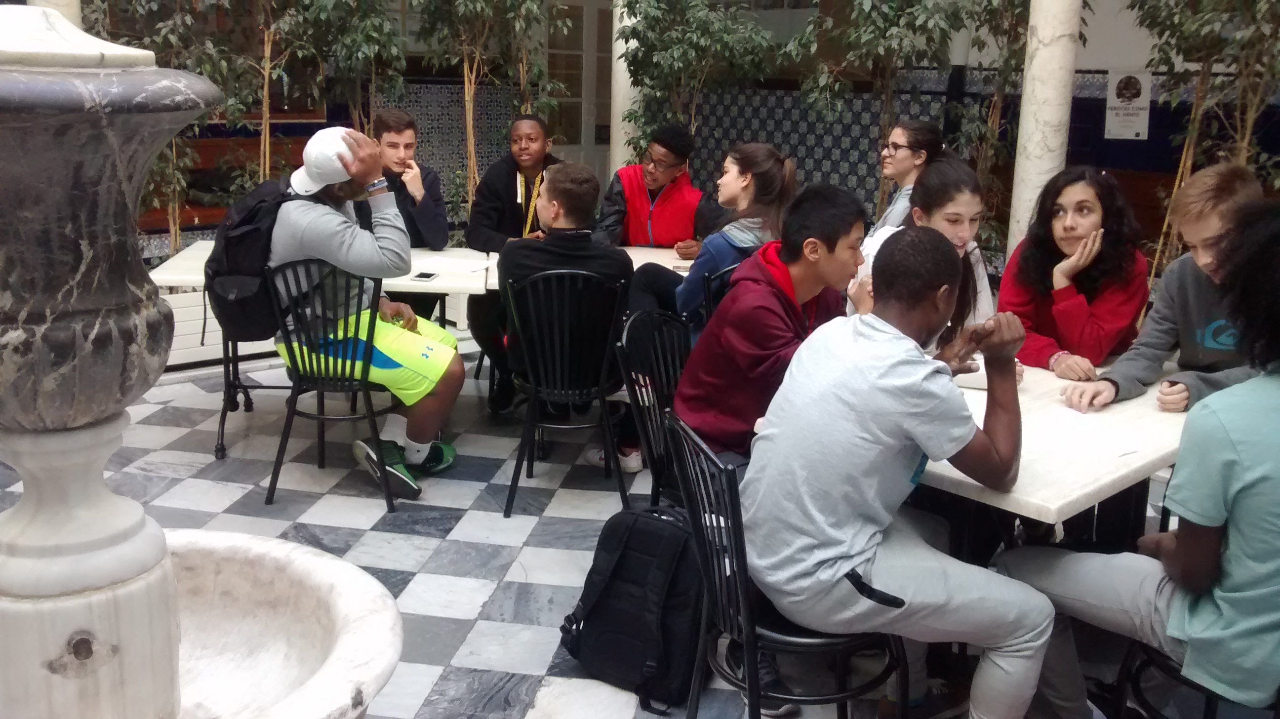 Language exchange with Spanish students
