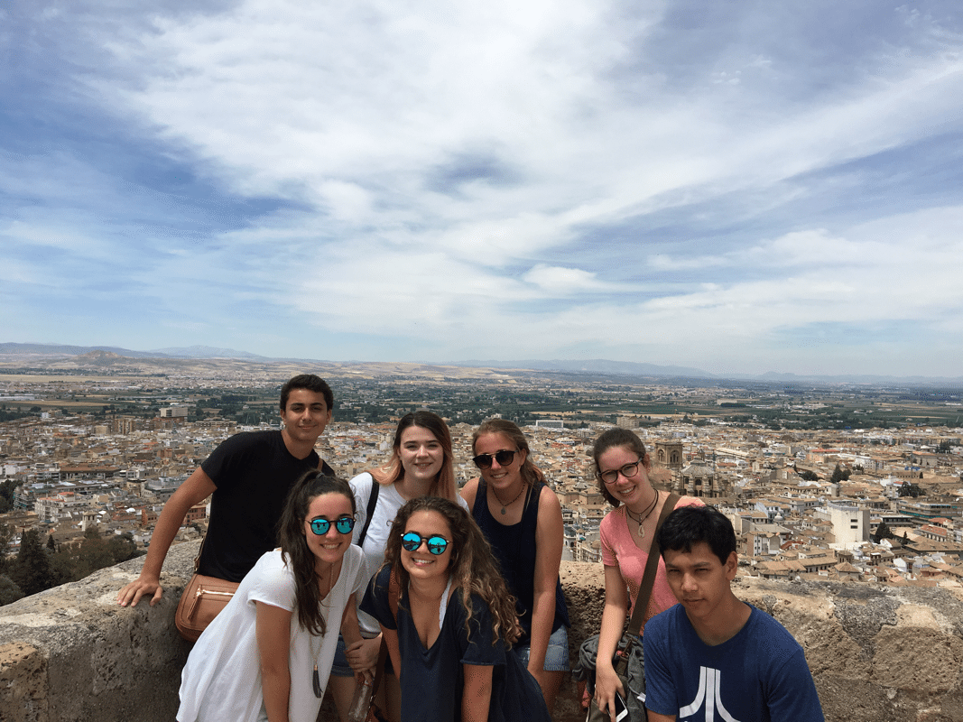 Our students visiting La Alhambra