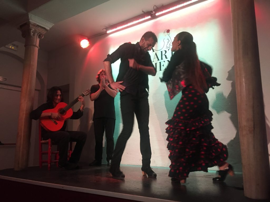 Flamenco in downtown Granada