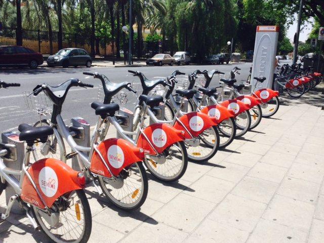 Sevici public bike service in seville