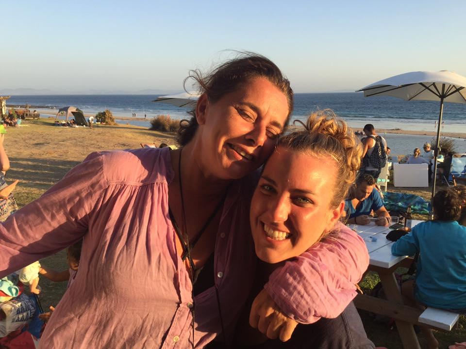 Host mom Isabel and I enjoying a beach trip in Bolonia