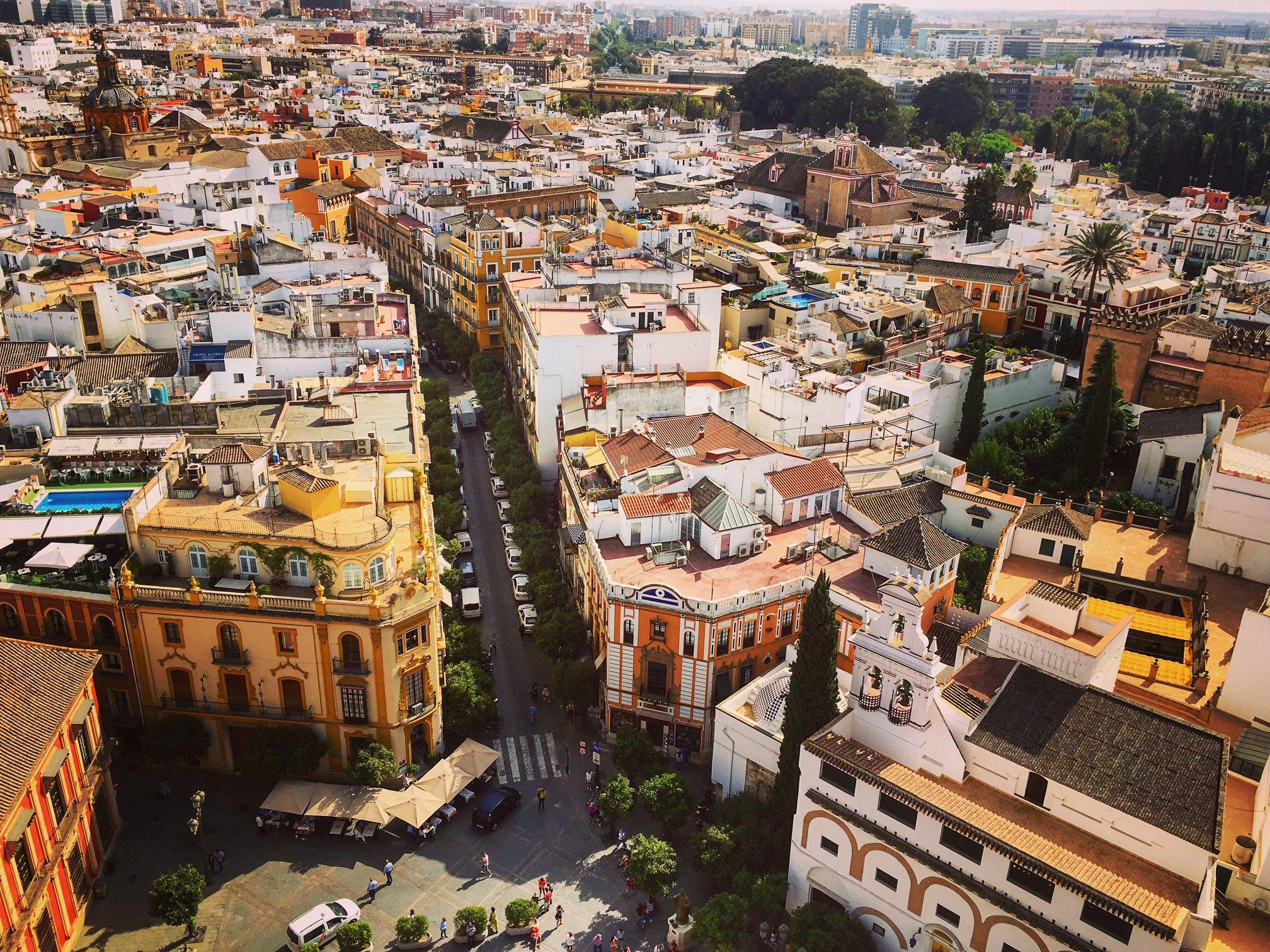 giralda en sevilla study abroad spain centro mundo lengua spanish best in travel seville