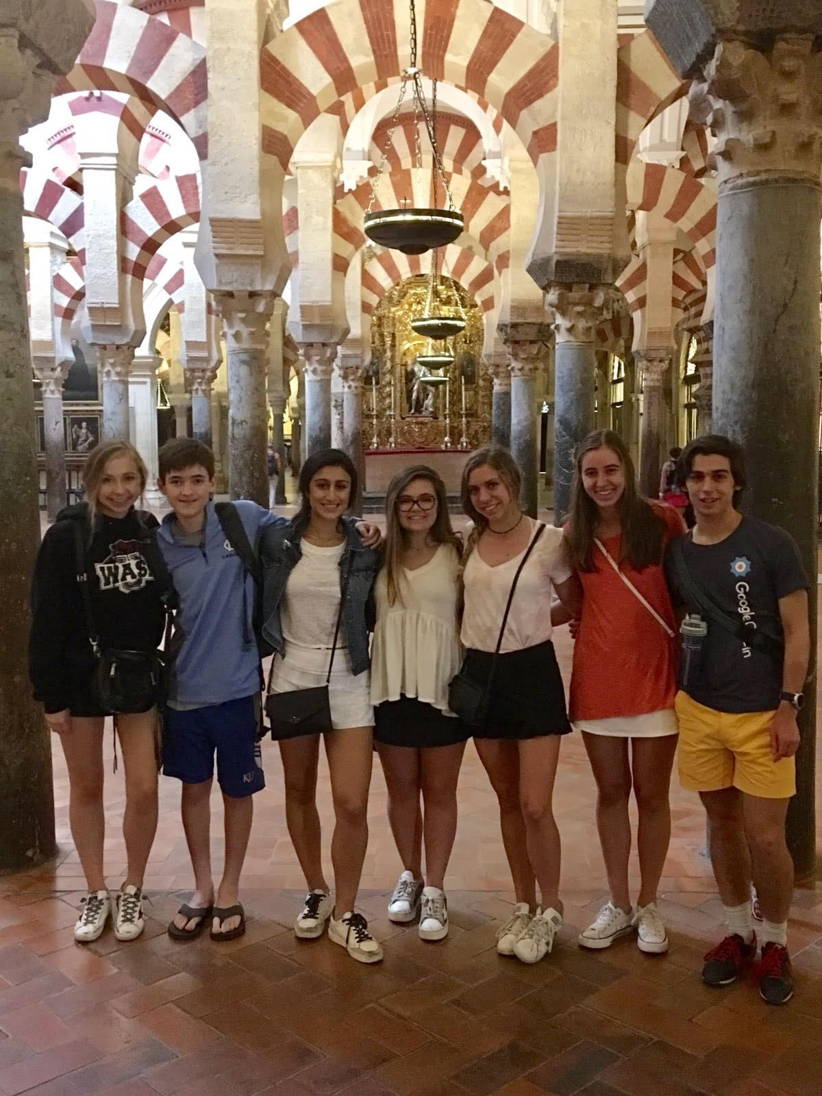 students visiting the Mezquita