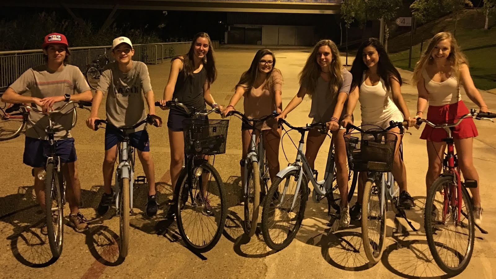 charlotte latin students on a bike ride