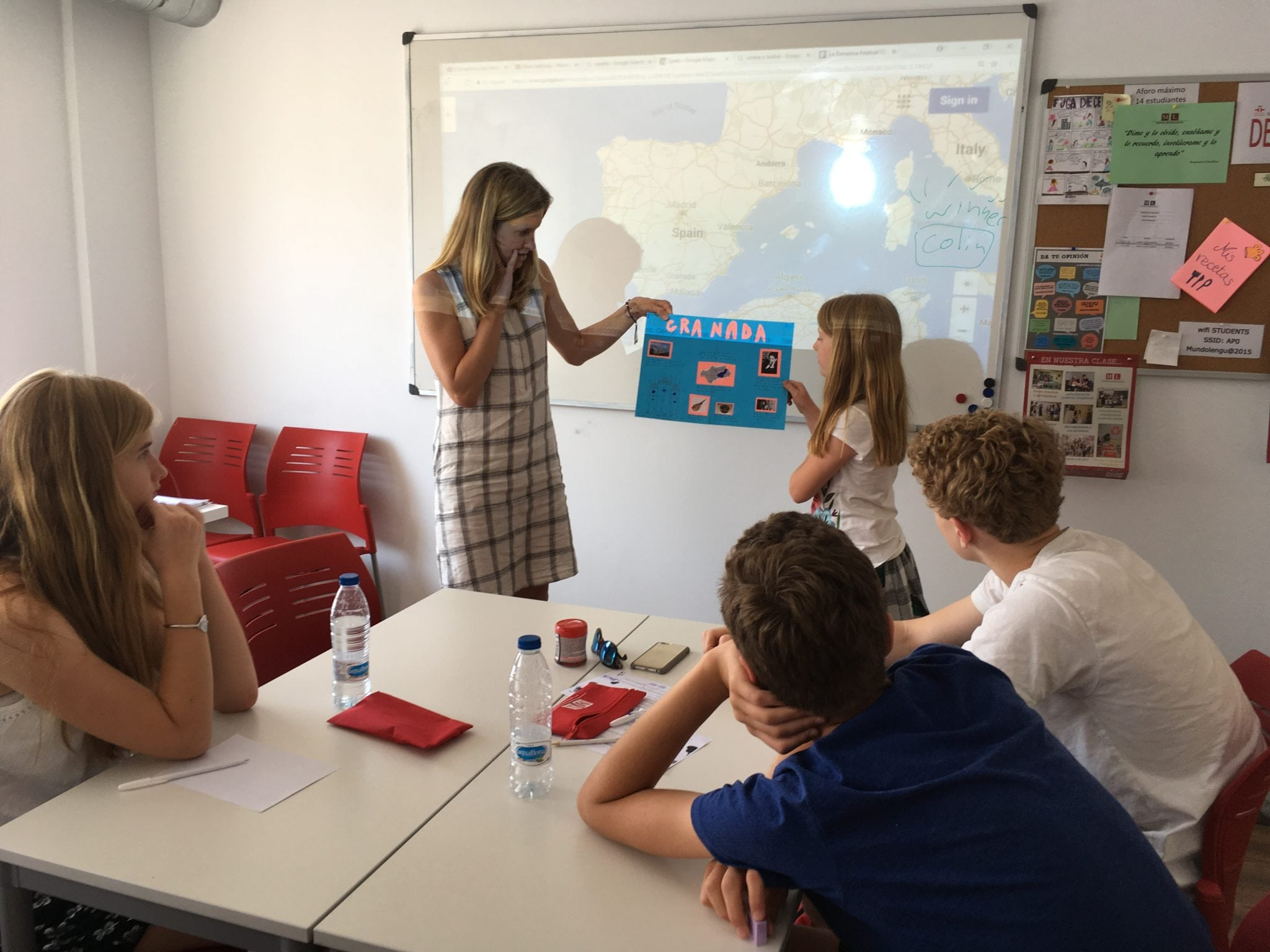 family Spanish class presentations