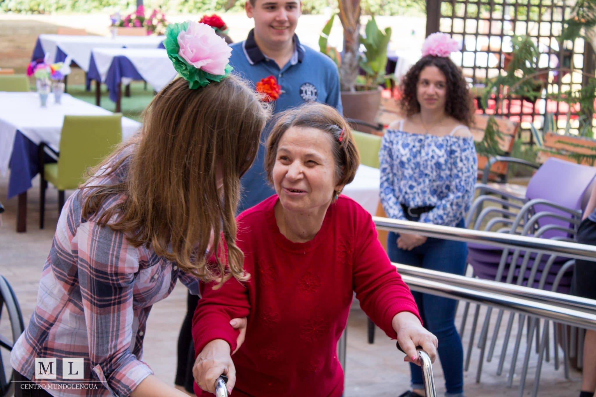 A Volunteer in Spain Helping the Elderly