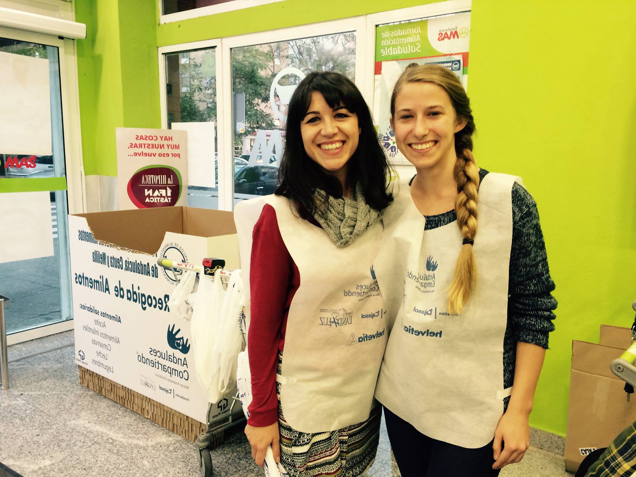 Volunteering in Spain at some food banks