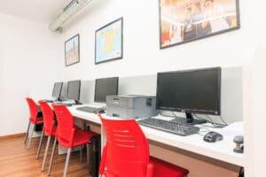 Our Spanish school in Sevilla - computer room