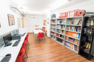 Our Spanish school in Sevilla - Library