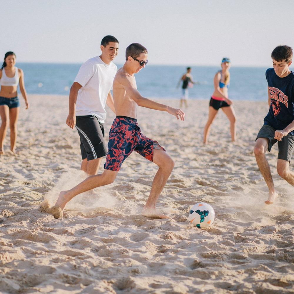 Beach soccer in Cadiz - Summer high school volunteer programs