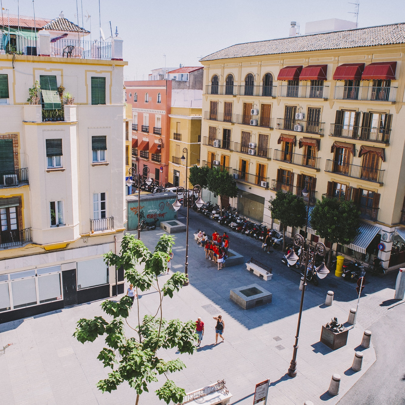 View from our Spanish school in Sevilla, Spain