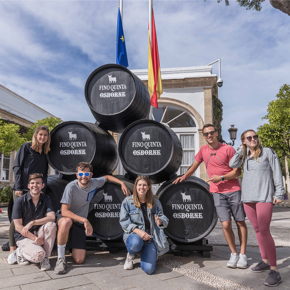 Visiting a bodega - Summer programs for college students in Spain