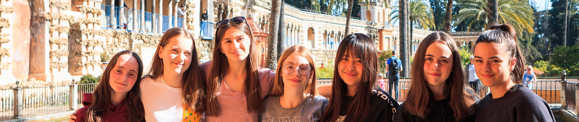 AP Spanish lit students in Sevilla, Spain