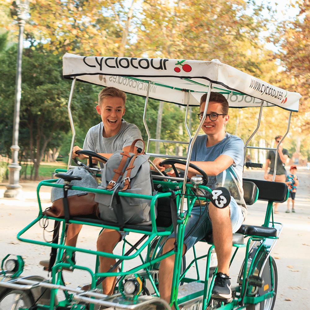 Biking in Maria Luisa - Service learning tours in Sevilla, Spain