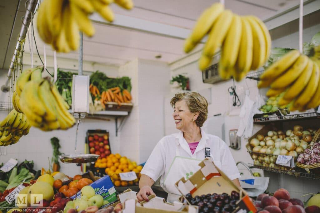 Fresh food market in Sevilla, Spain