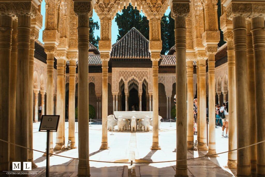 Visiting the Alhmabre in Granada, Spain