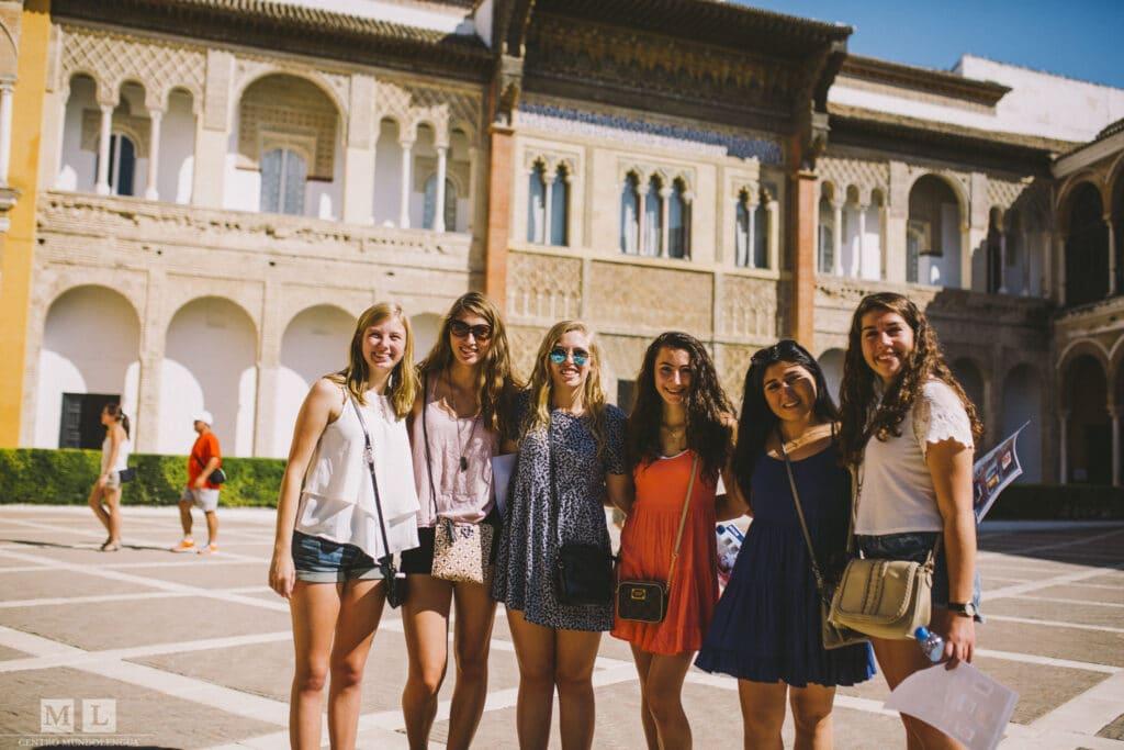 pre-AP Spanish students in Sevilla, Spain