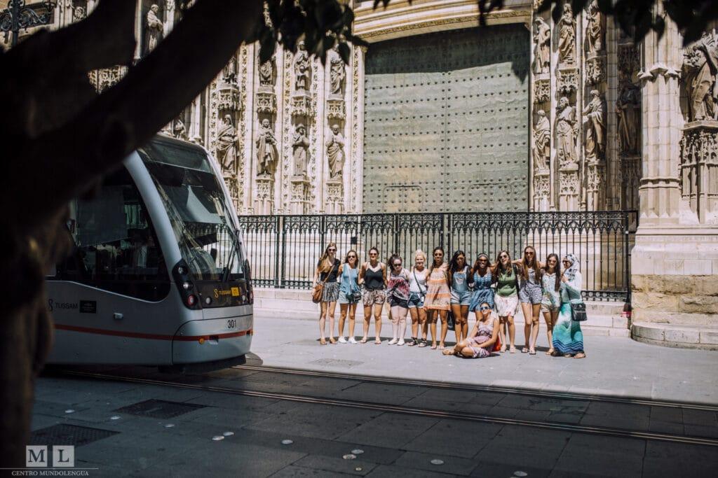 Getting around in Sevilla: tram