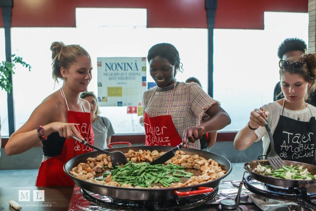 Authentic study abroad programs for high school students: cooking paella